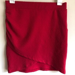 H&M Red Mini Skirt Size Small